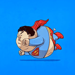Caricaturas de Superheroes GORDOS 1