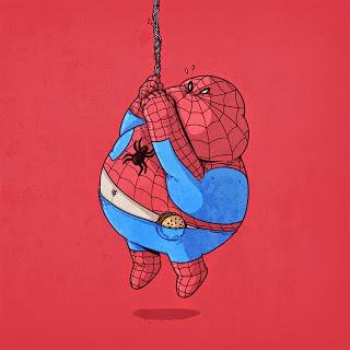 Caricaturas de Superheroes GORDOS 14