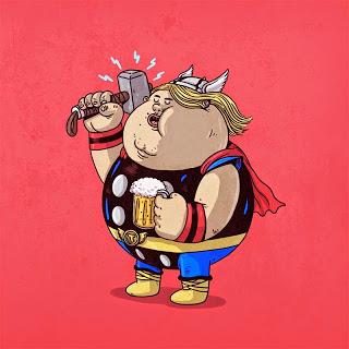 Caricaturas de Superheroes GORDOS 2