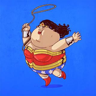 Caricaturas de Superheroes GORDOS 5