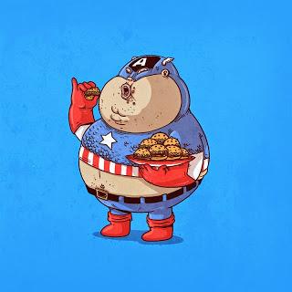 Caricaturas de Superheroes GORDOS