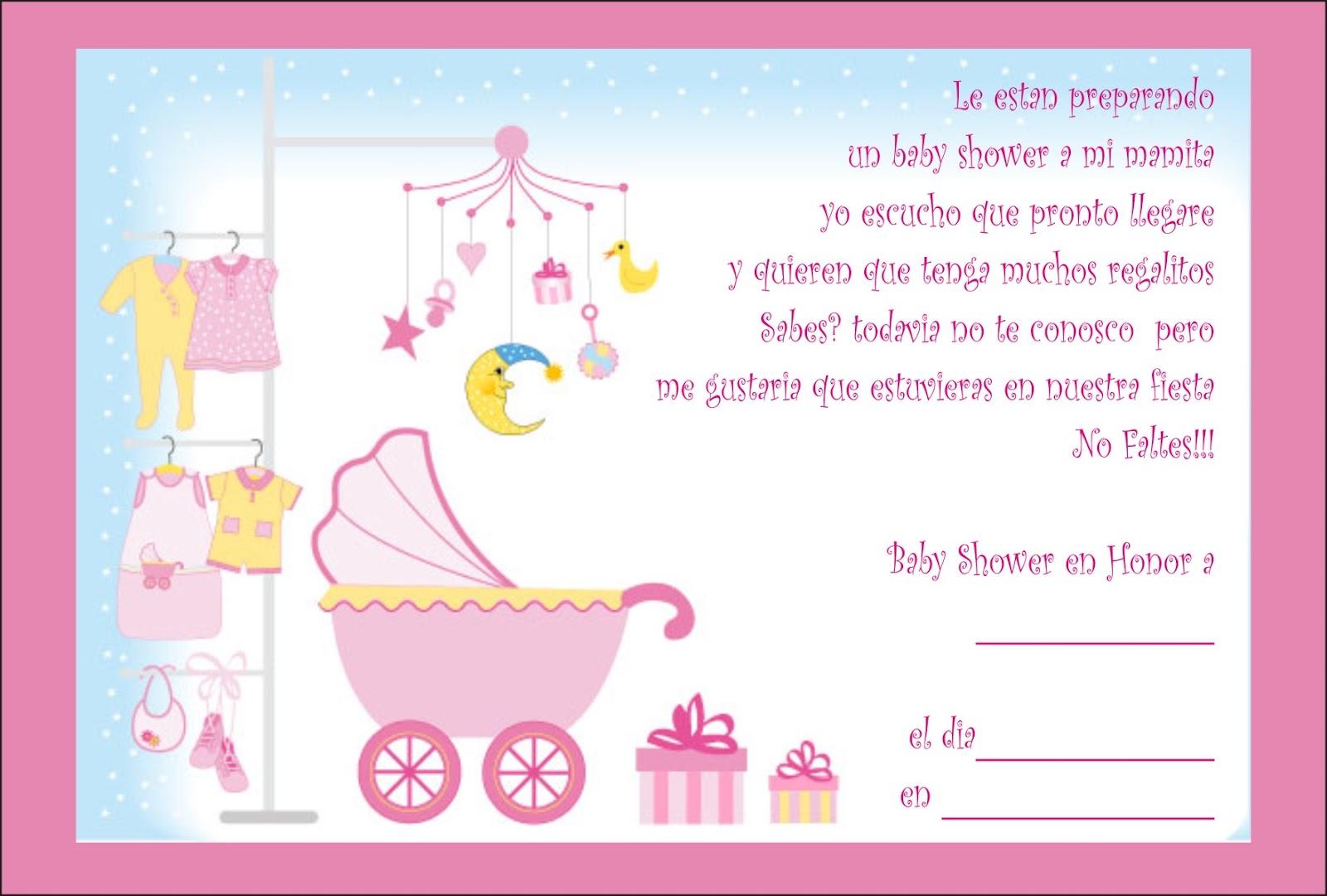 Invitaciones Para Baby Shower Nina
