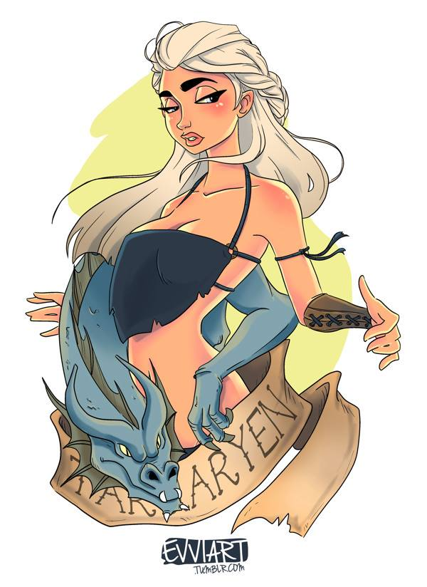 Las princesas de Disney con tatuajes 2
