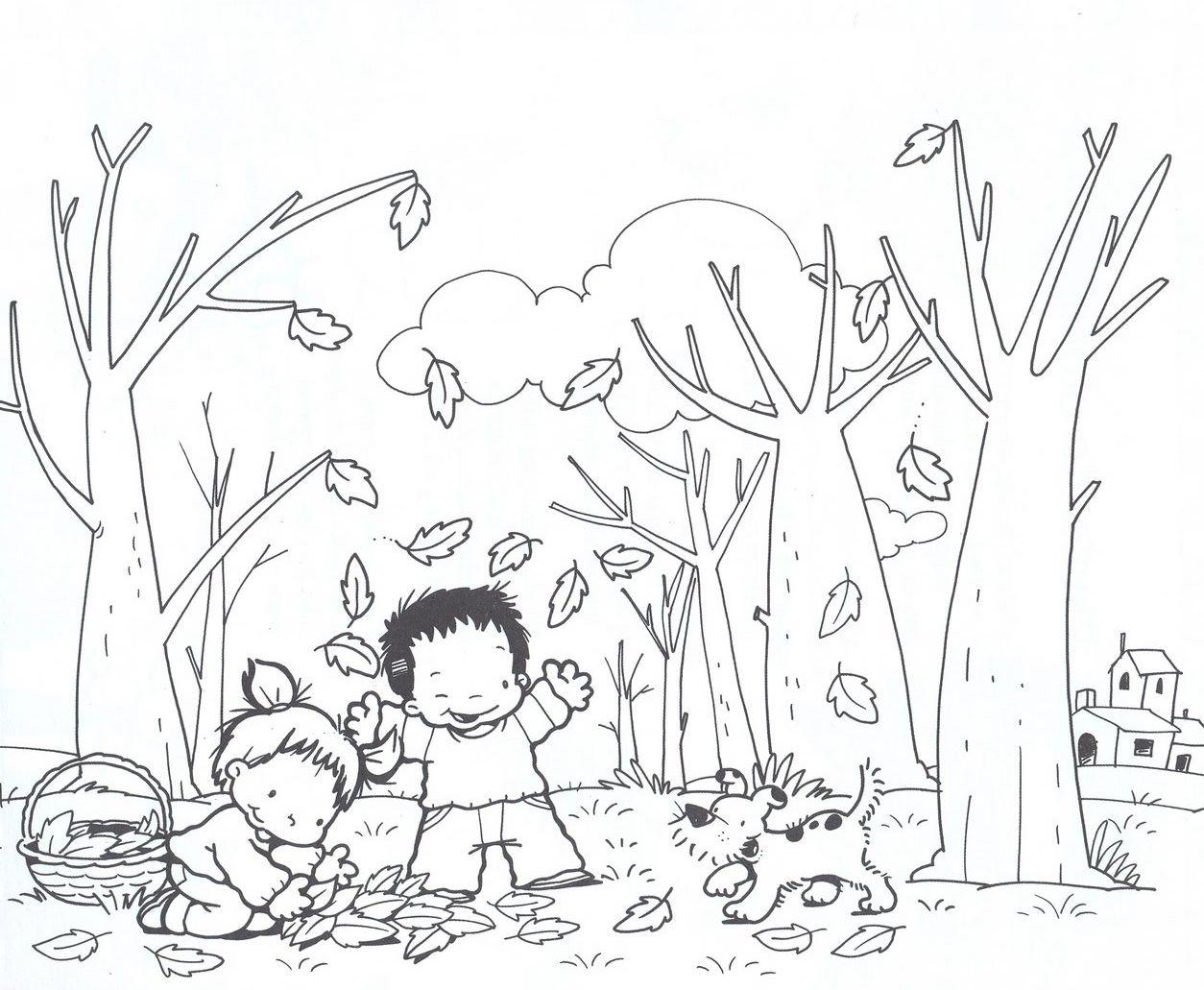 Dibujos De Otoño Para Imprimir