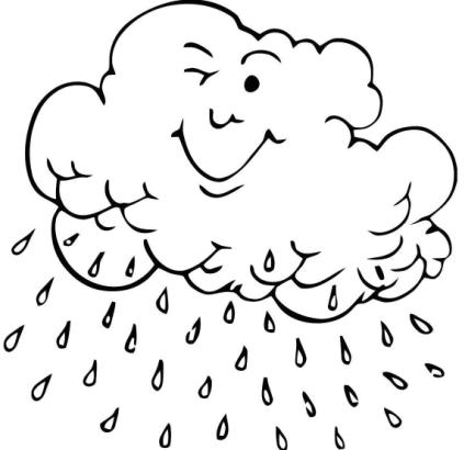 Lluvia-con-nube-para-colorear-pintar