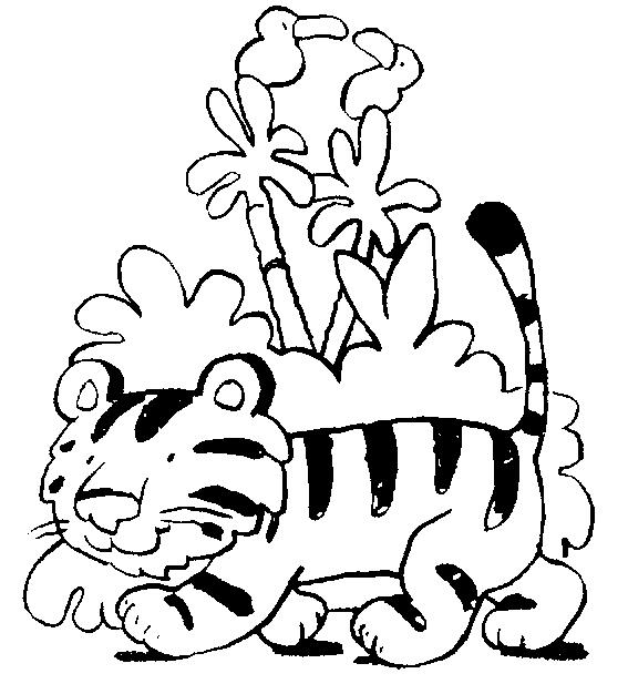 dibujos de tigre para colorear 11