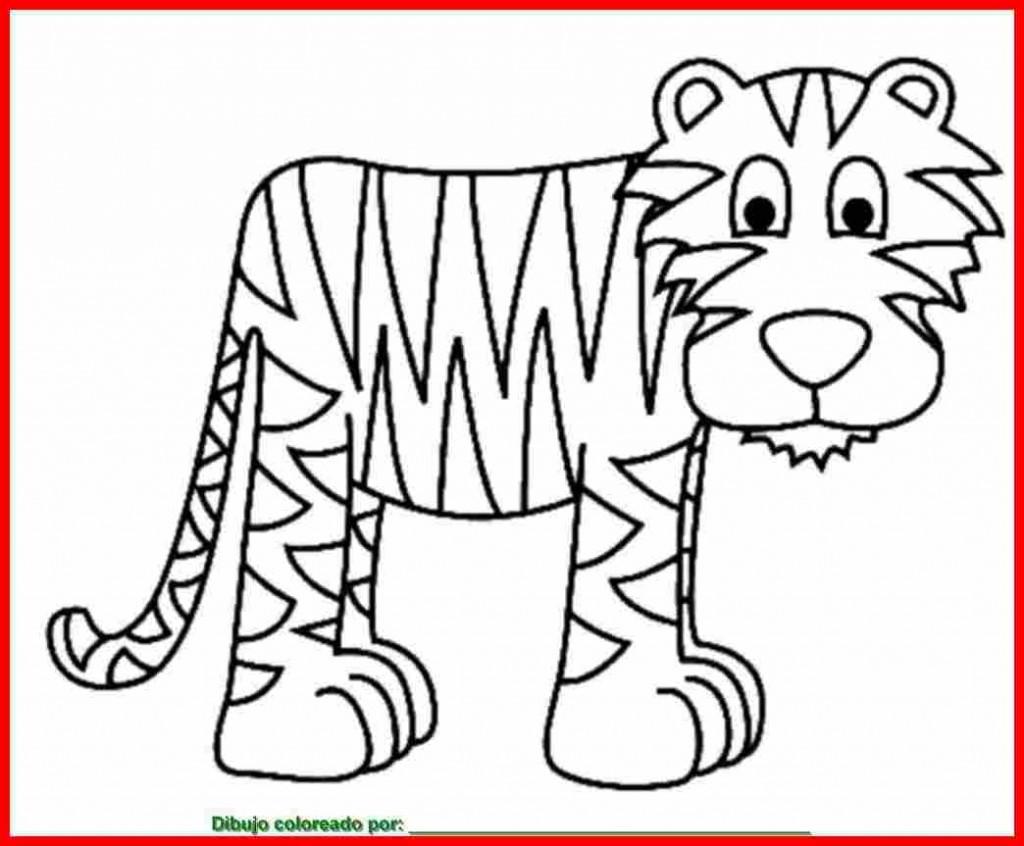 dibujos de tigre para colorear 2