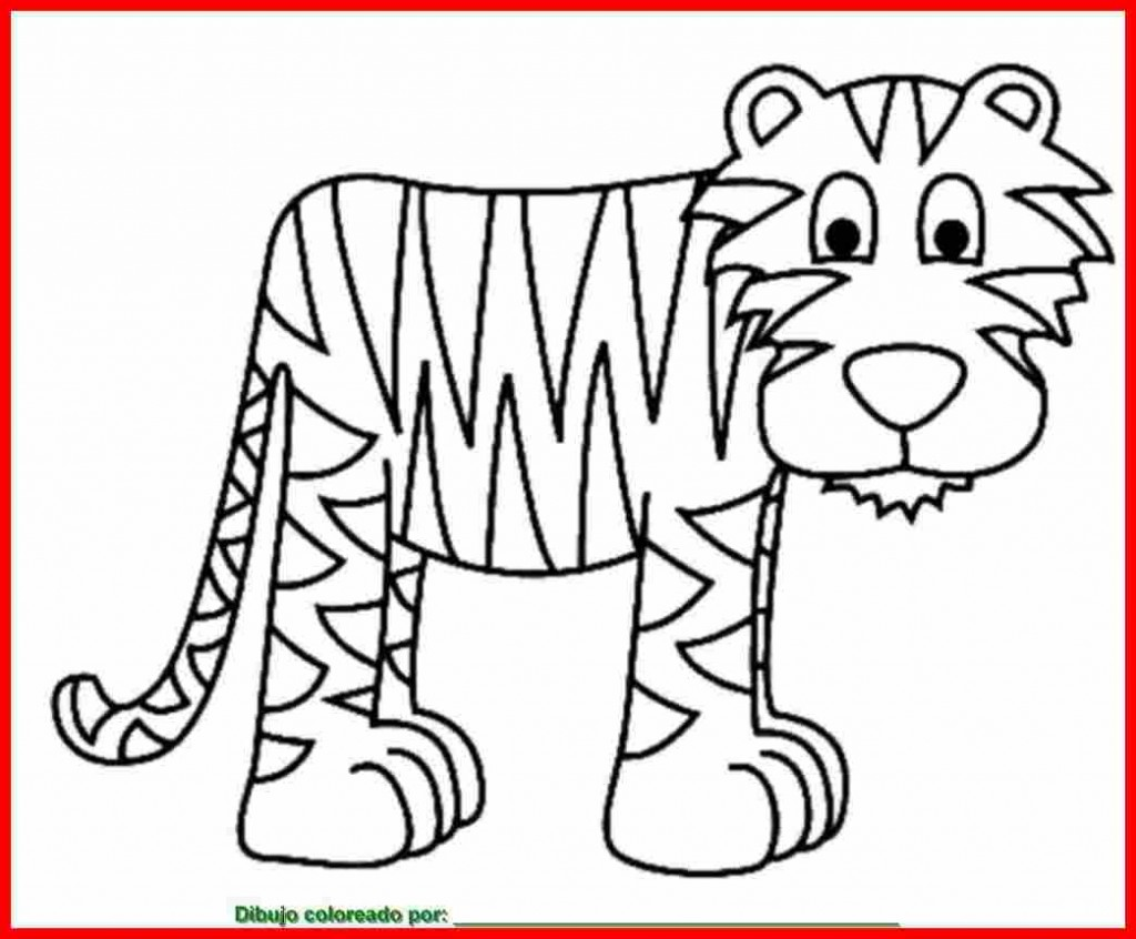 Dibujos De Caras De Tigres Para Colorear: Dibujos De Tigre Para Colorear