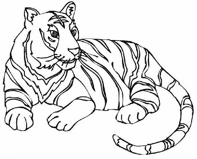 dibujos de tigre para colorear 8