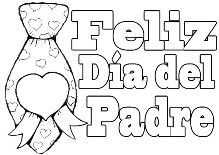 Dibujos Del Dia Del Padre Coloreados: TARJETA DEL DÍA DEL PADRE PARA COLOREAR