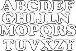 Dibujos de el abecedario para colorear