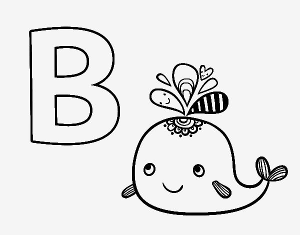 Dibujos de el abecedario para colorear for La b b