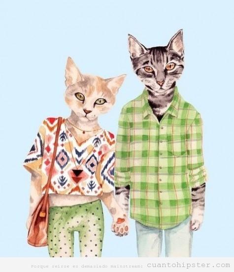 dibujo-hipster-cats-gatos-ilustracion