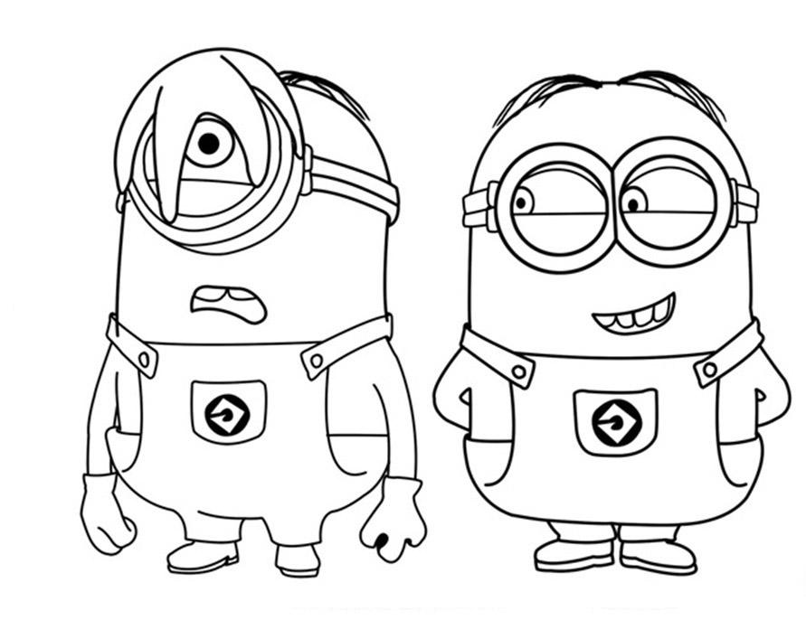 Minions para colorear - Dibujos para pintar en tela infantiles ...