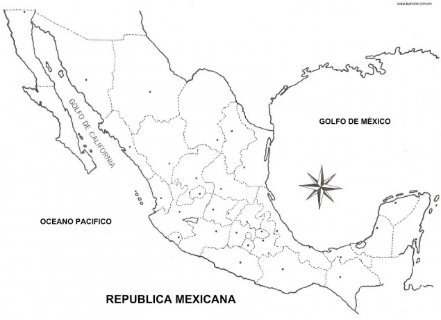 Mapa De M�xico Sin Nombres: America Mapa Sin Nombres At Infoasik.co