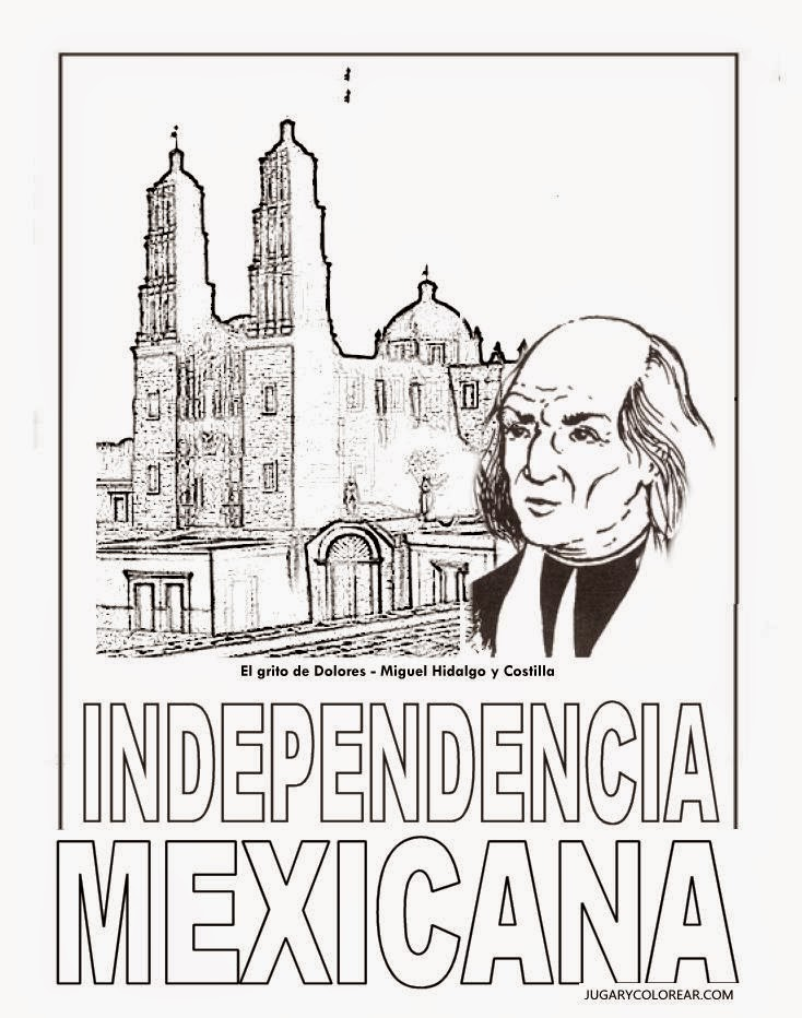 Independencia de mexico para colorear