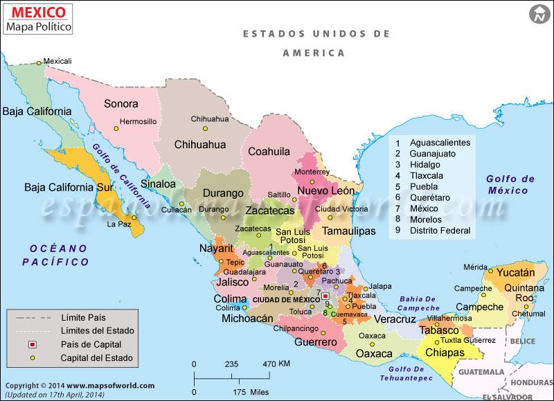 mapa-de-mexico ...