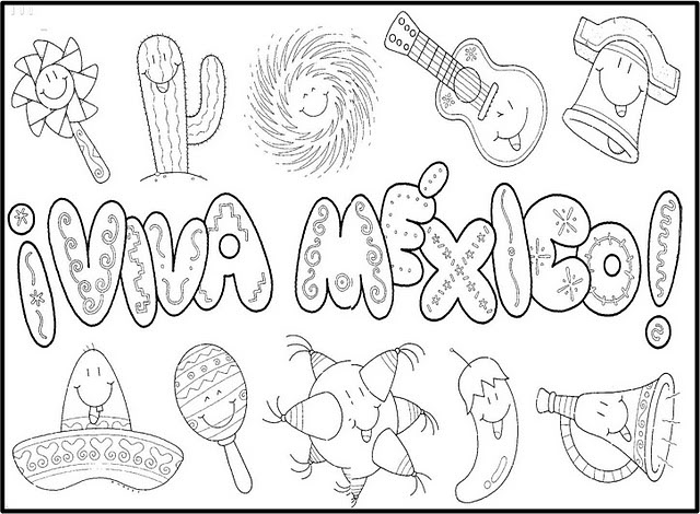 Independencia De Mexico Para Colorear