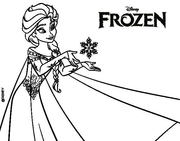 Dibujos para colorear de frozen 1