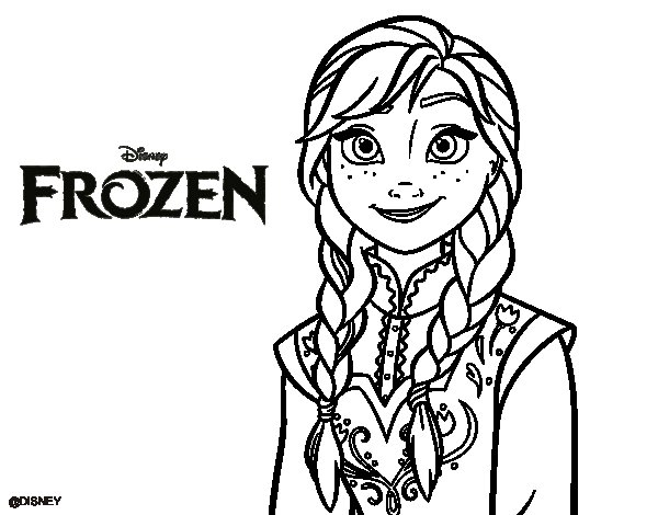 Dibujos para colorear de frozen 5
