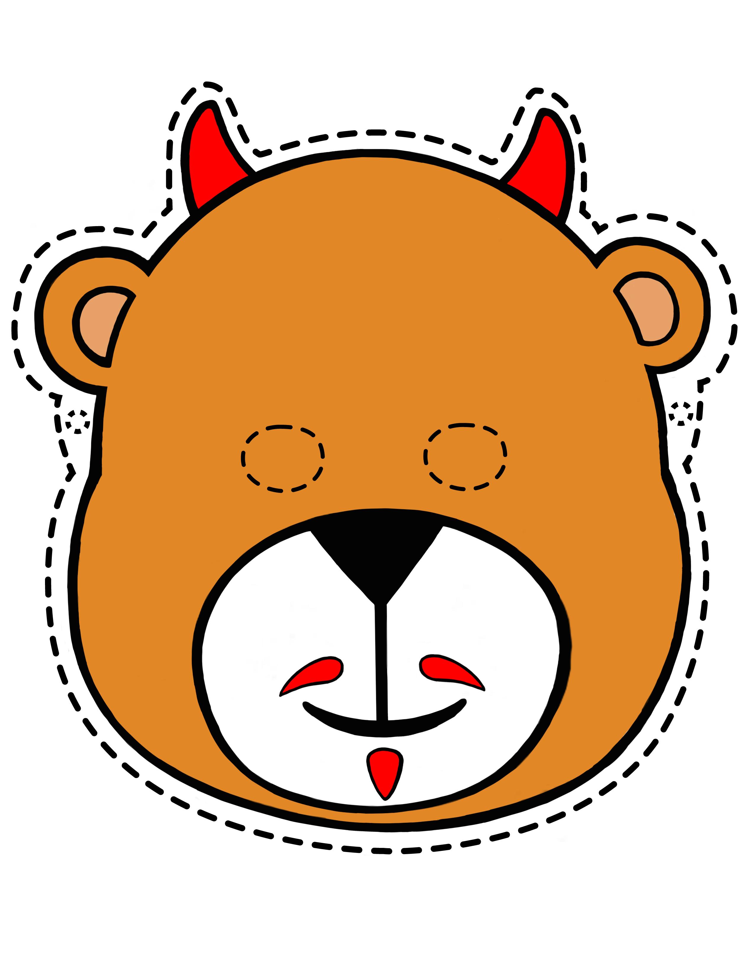 halloween masks printable oso