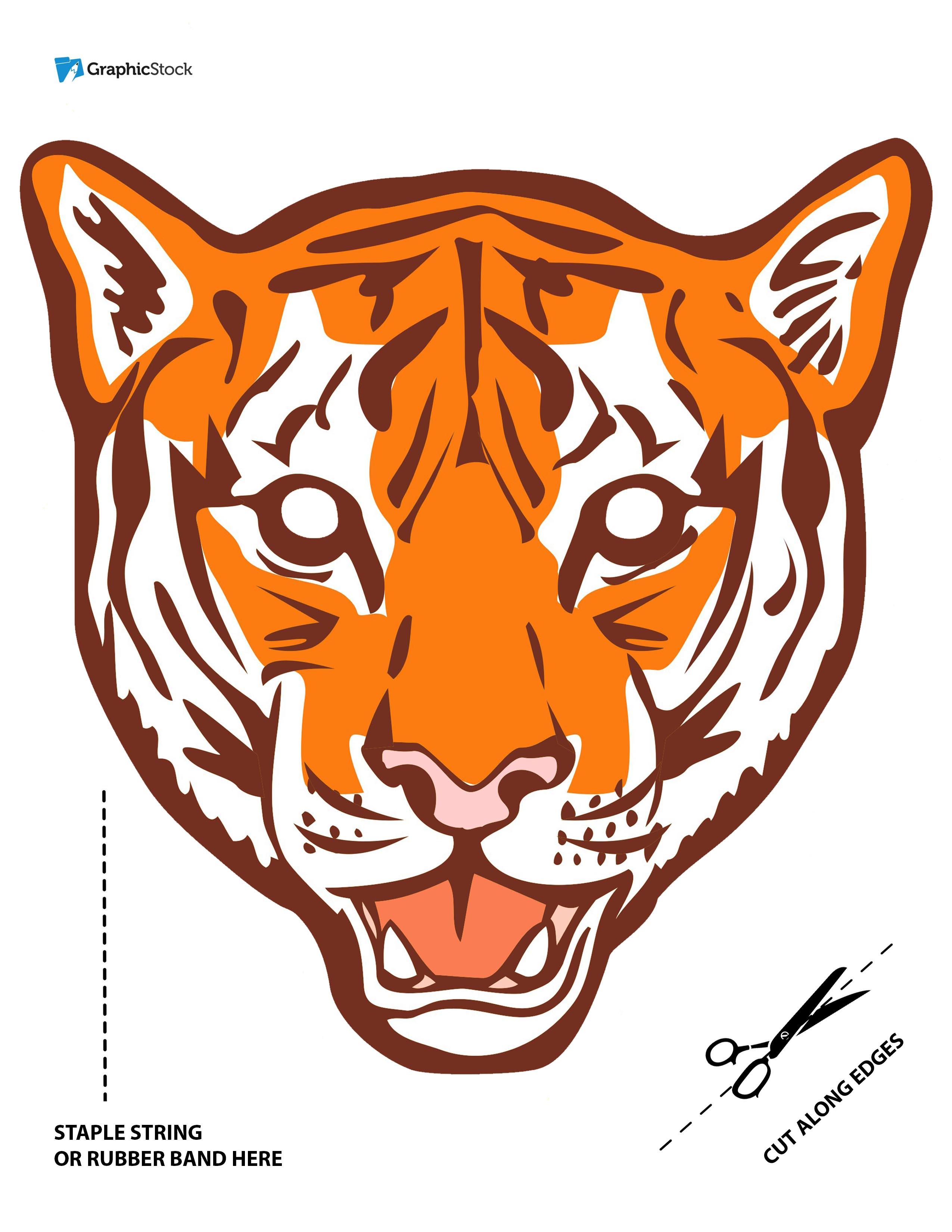 halloween masks printable tigre