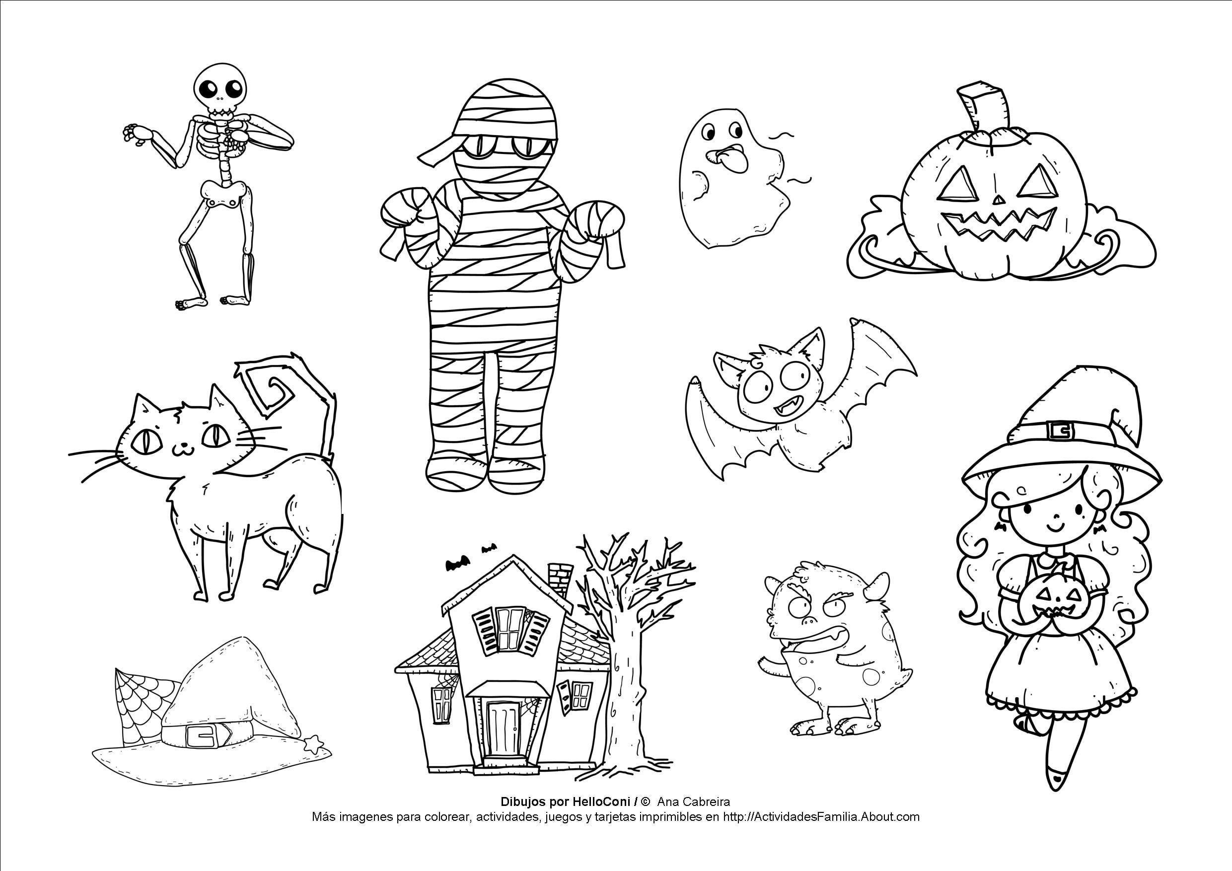 halloween-para-colorear-Dibujos-de-Halloween-para-colorear