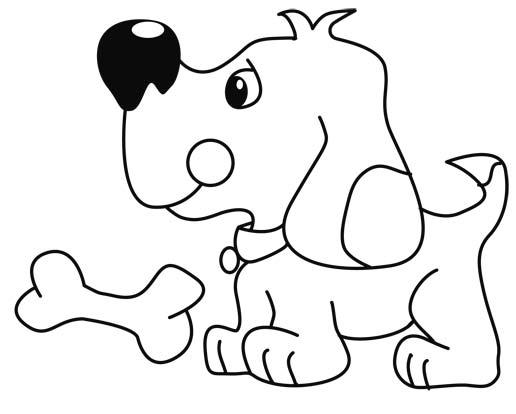imagenes-de-perros-para-colorear