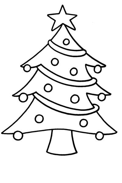 Arbol de navidad para colorear - Dibujos de arboles de navidad ...