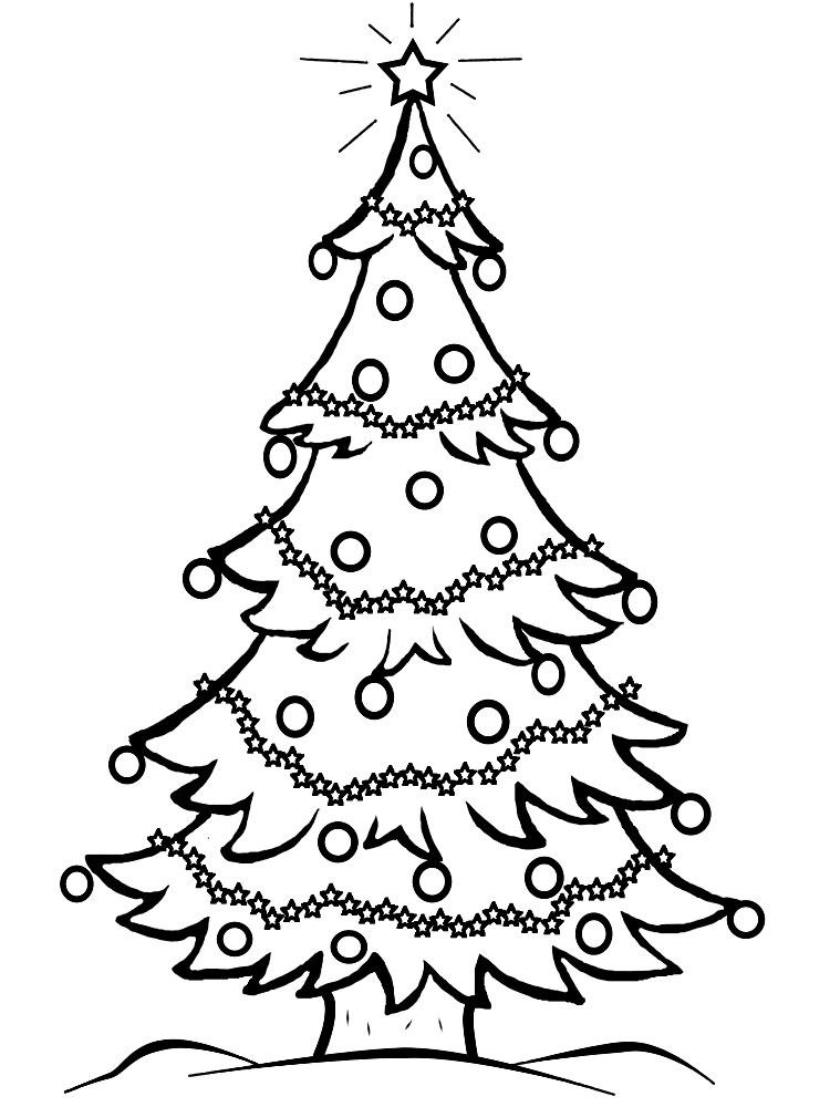 Arbol De Navidad Para Colorear | Zelfaanhetwerk