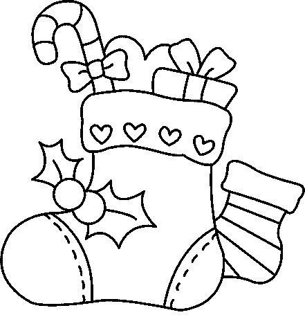 Botas para colorear de Navidad 0