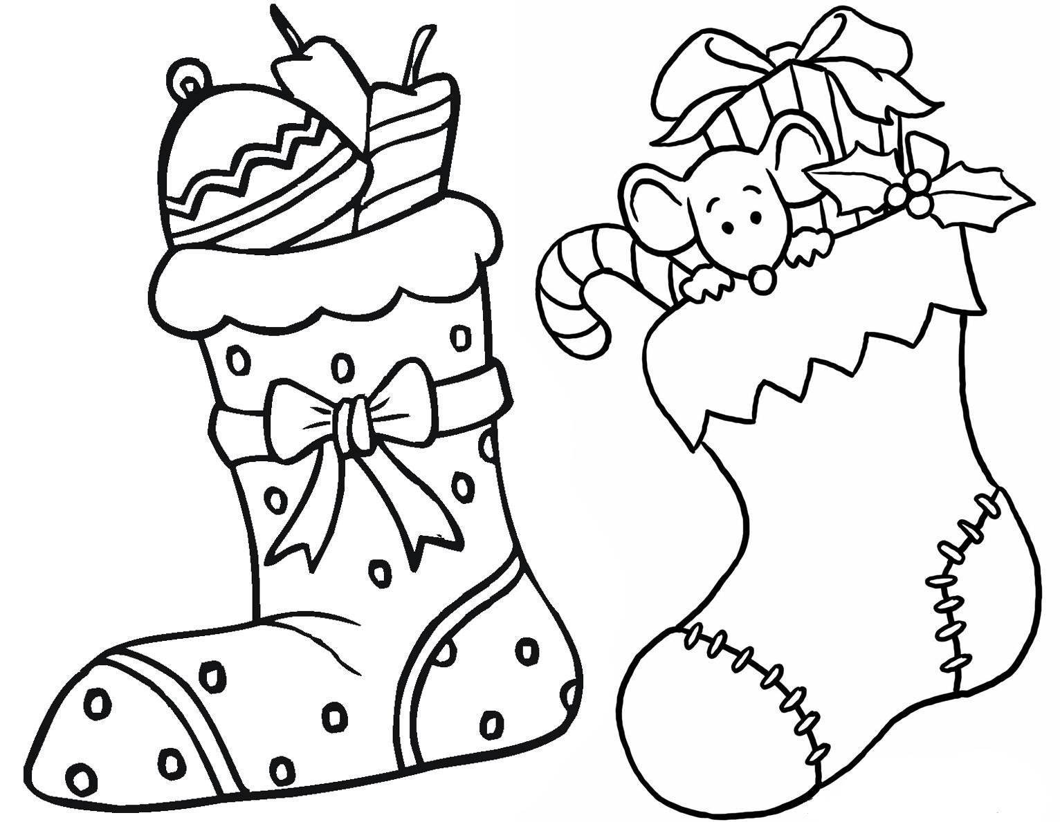 Botas para colorear de Navidad 1