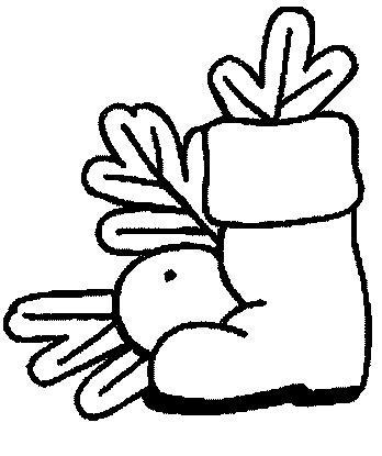 Botas para colorear de Navidad 7
