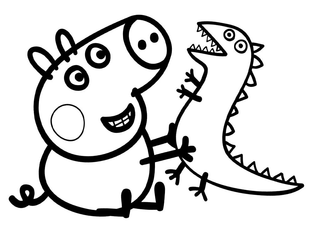 Dibujos de Peppa pig para colorear 5