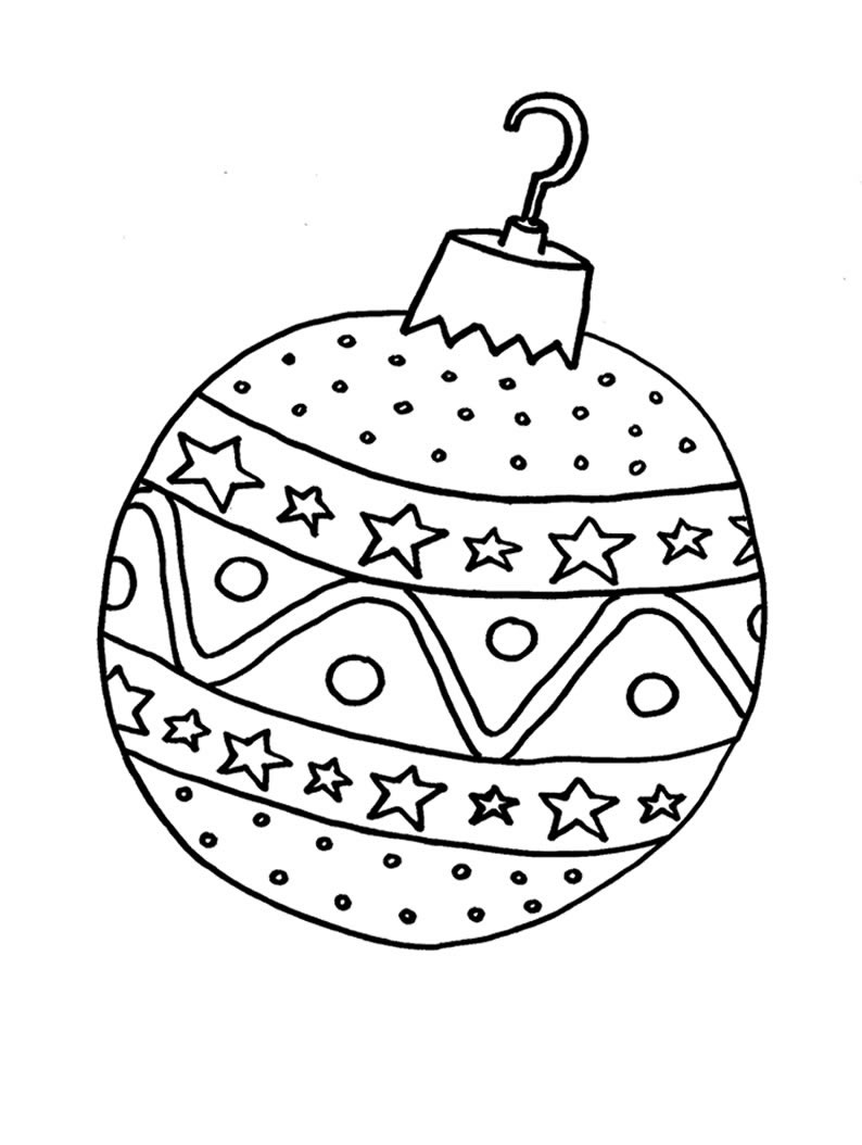 Dibujos Para Colorear De Navidad Bolas | Bernadettes
