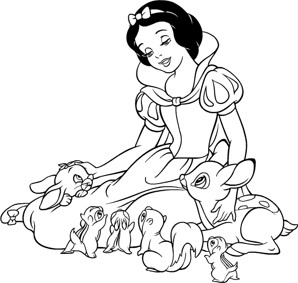 Dibujos-para-colorear-Disney-Blancanieves