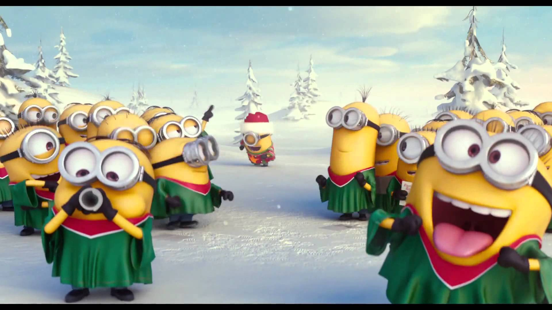 minions navideños para facebook 1
