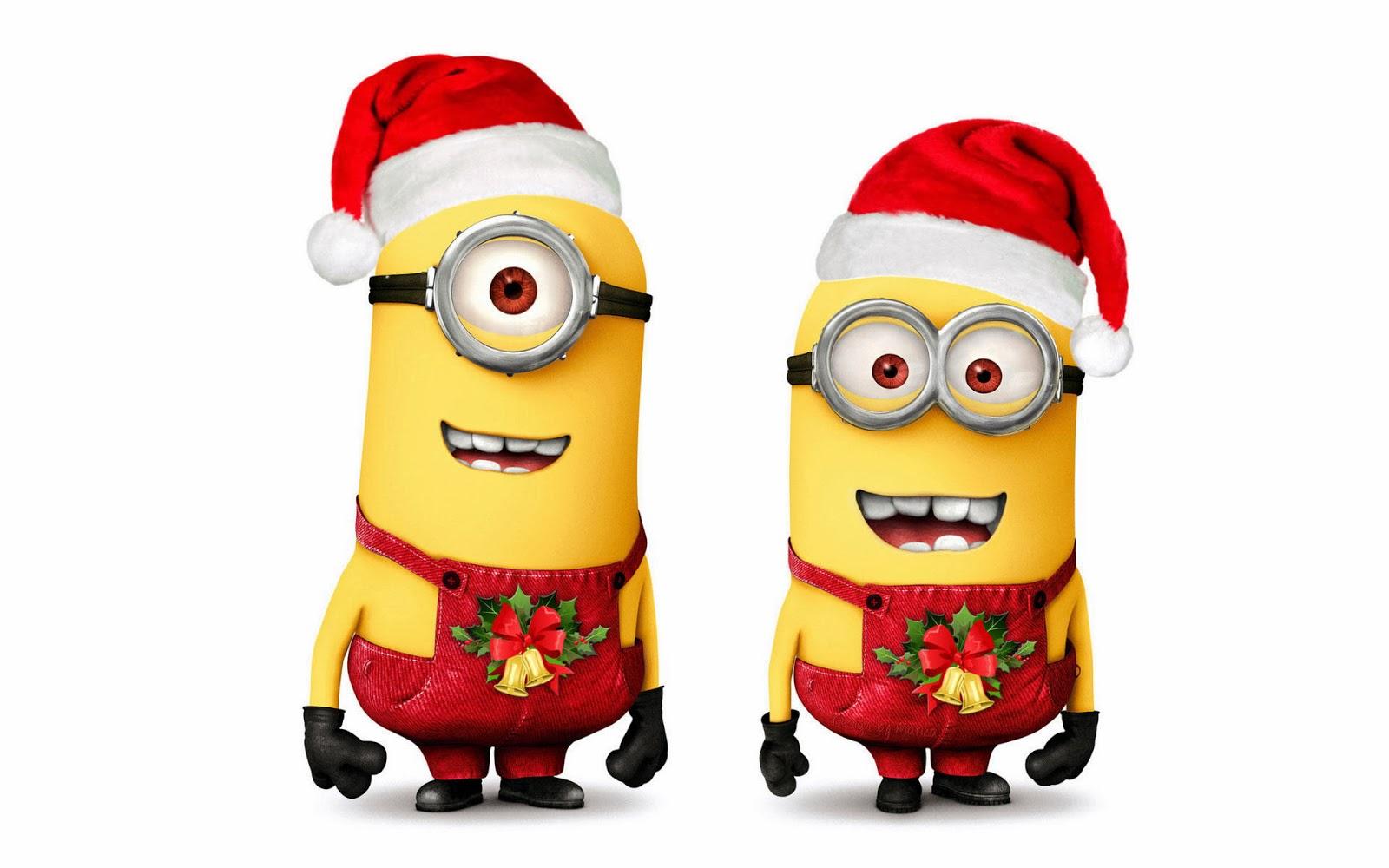 minions navideños para facebook 2