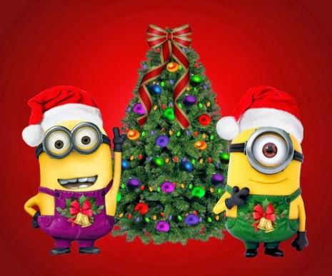 minions navideños para facebook 3
