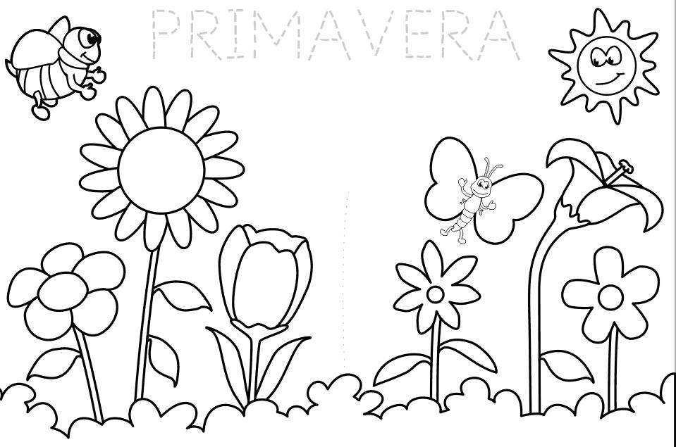 Imagen para colorear de la primavera 0