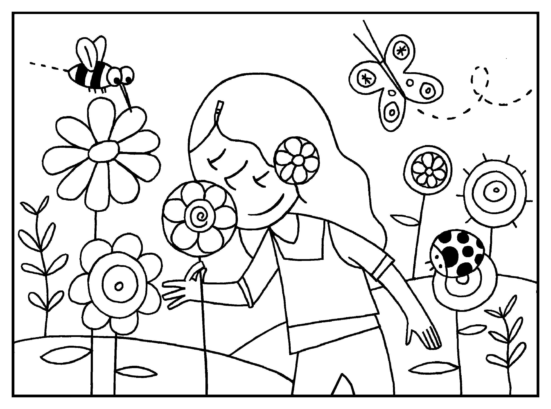 Imagen para colorear de la primavera 1