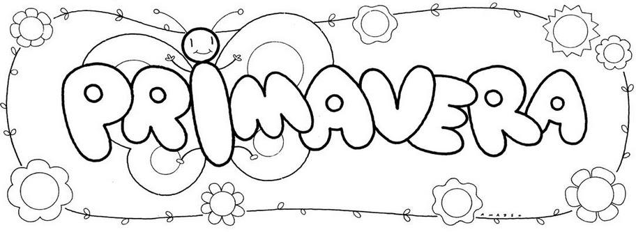 Dibujos Para Colorear 21 De Marzo Dia De La Primavera - Dibujos Para ...