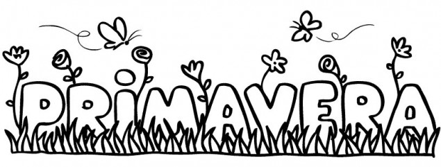 Dibujo De La Palabra Otoño Para Colorear Con Los Niños: Primavera Para Colorear