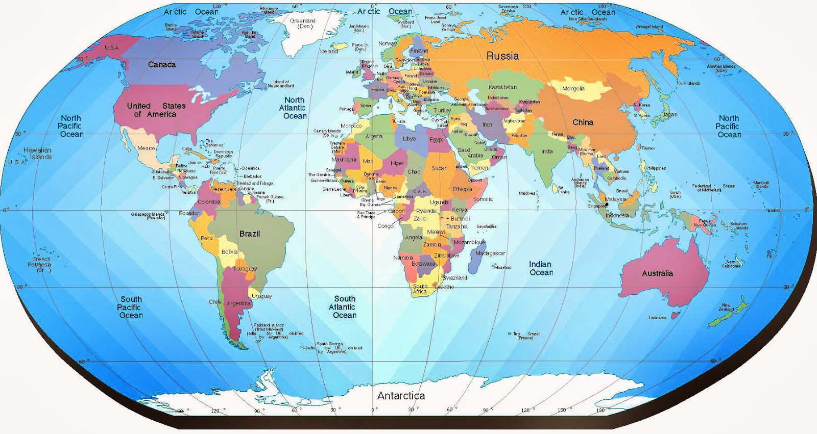 Mapa mundial con nombres