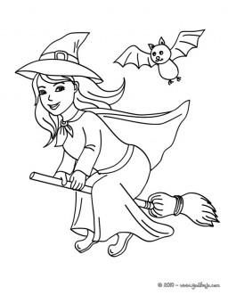 Brujas de halloween para colorear