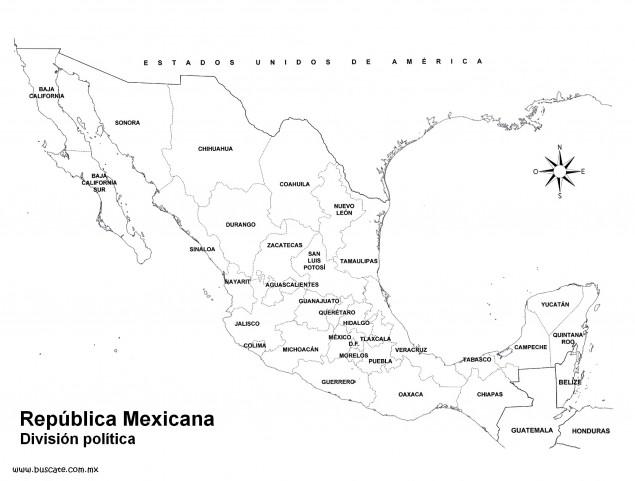 Estados y capitales de Mxico