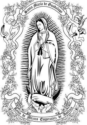 our lady of guadalupe coloring pages - imagenes virgen de guadalupe para colorear