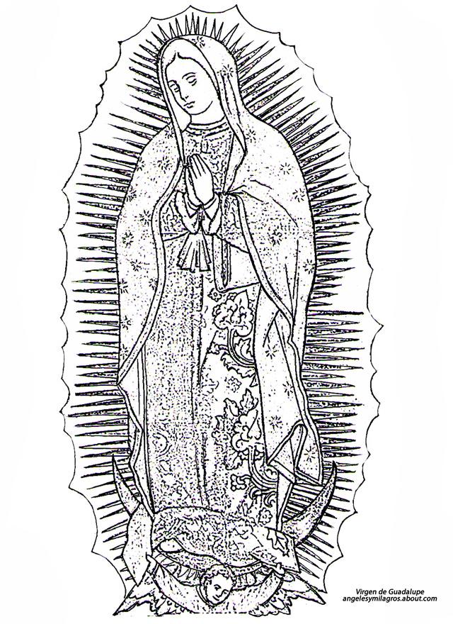 virgen-maria-para-colorear-guadalup
