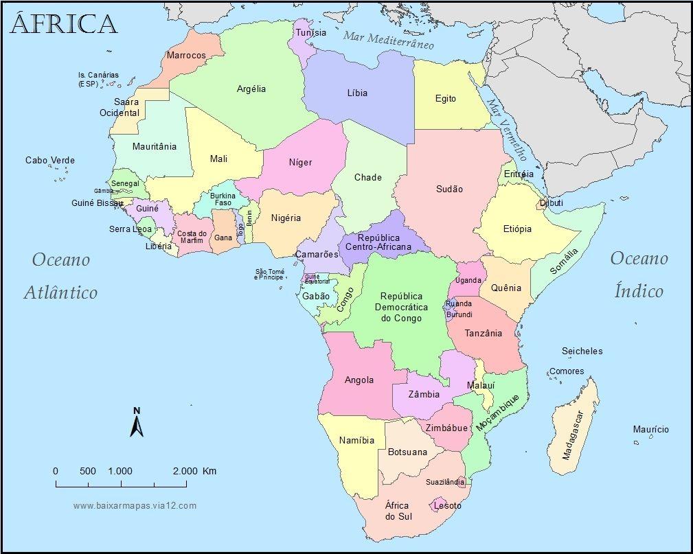 mapa-continente-africa-politico