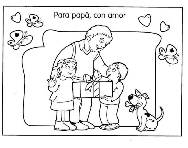 Dia del padre imagenes para colorear 3